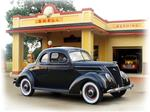"""1937 Ford at Shell Station"""