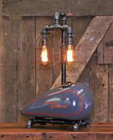 "01C ""Steampunk Industrial, Motorcycle H-D Gas Tank Lamp"""