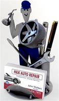 """Auto Mechanic Business Card Holder"""