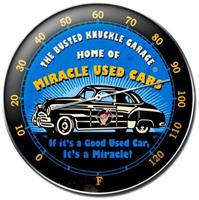 """Miracle Used Cars Thermometer"""
