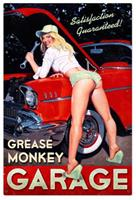 """Grease Monkey Metal Sign"""