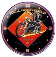 """Hell on Wheels Clock"""