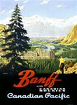 """Canadian Pacific Banff Railway Poster"""