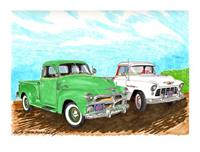 """1955 Chevy Pickups"""